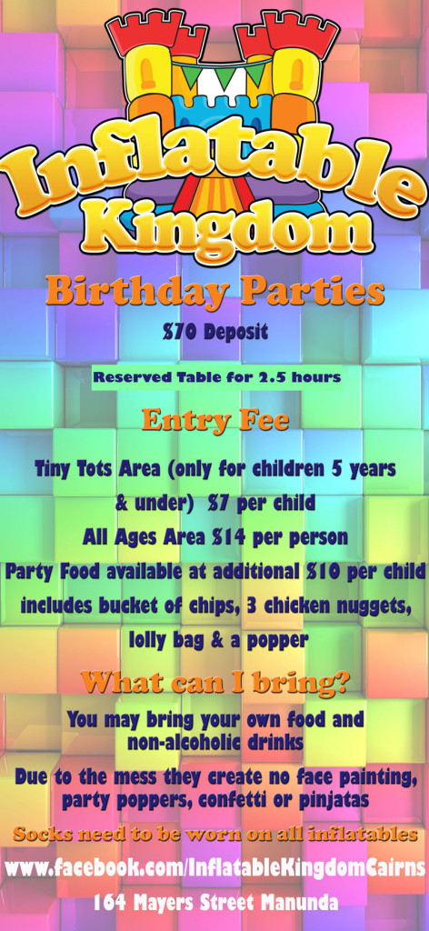 Inflatable Kingdom Party Information